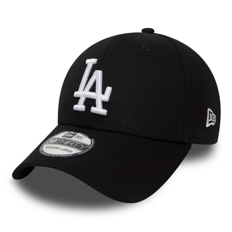 Los Angeles Dodgers 39Thirty Stretch Fit League Essential Black/White Cap