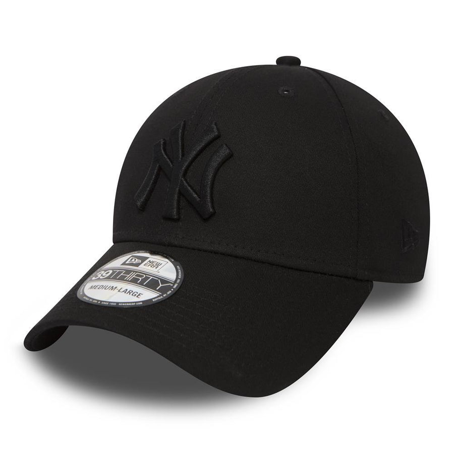 New York Yankees MLB 39Thirty Stretch Basic Tonal Black Cap