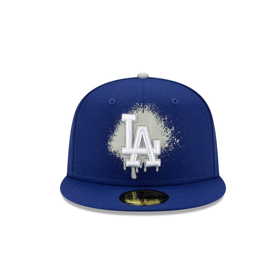 Los Angeles Dodgers 59Fifty Spray Paint Logo Navy Cap