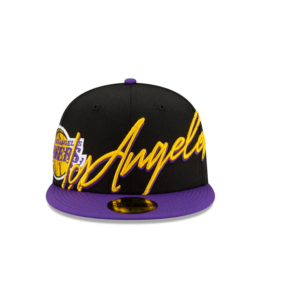 Los Angeles Lakers 59Fifty City Script Black/Purple Cap