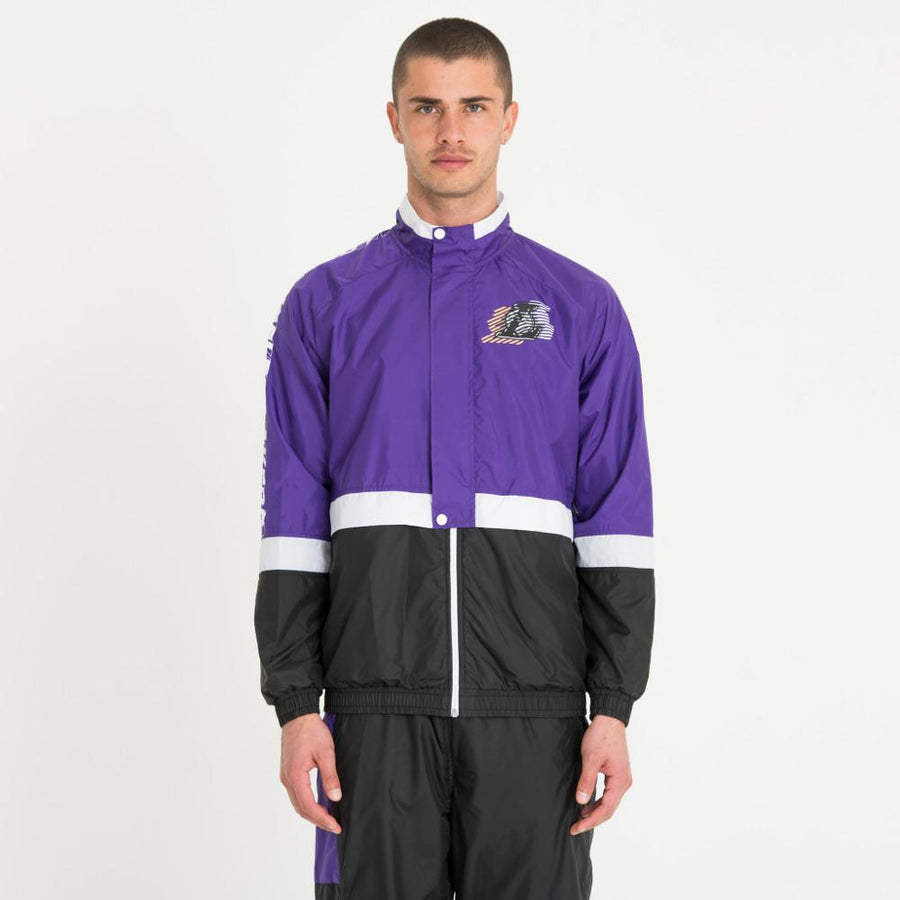 Los Angeles Lakers NBA Colour Block Purple/Black Track Jacket