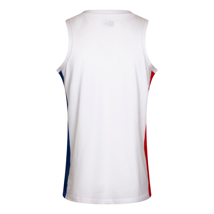 Philadelphia 76Ers NBA Block Wordmark White Tank