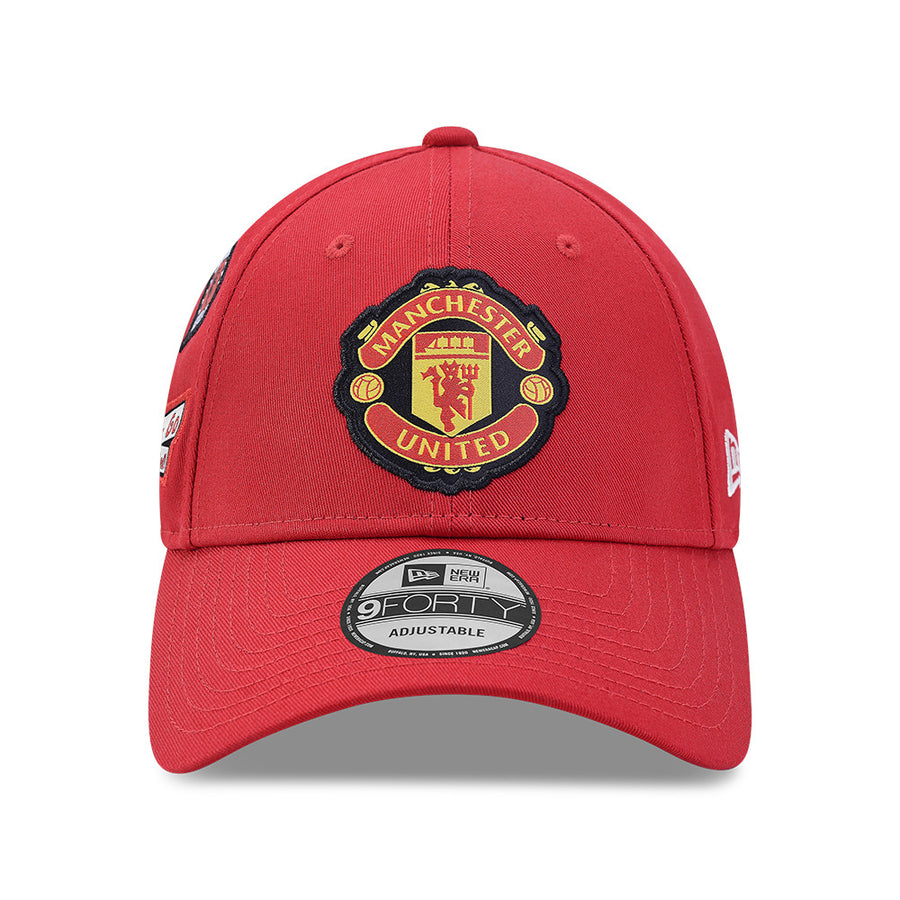 Manchester United 9Forty Side Patches Red Cap