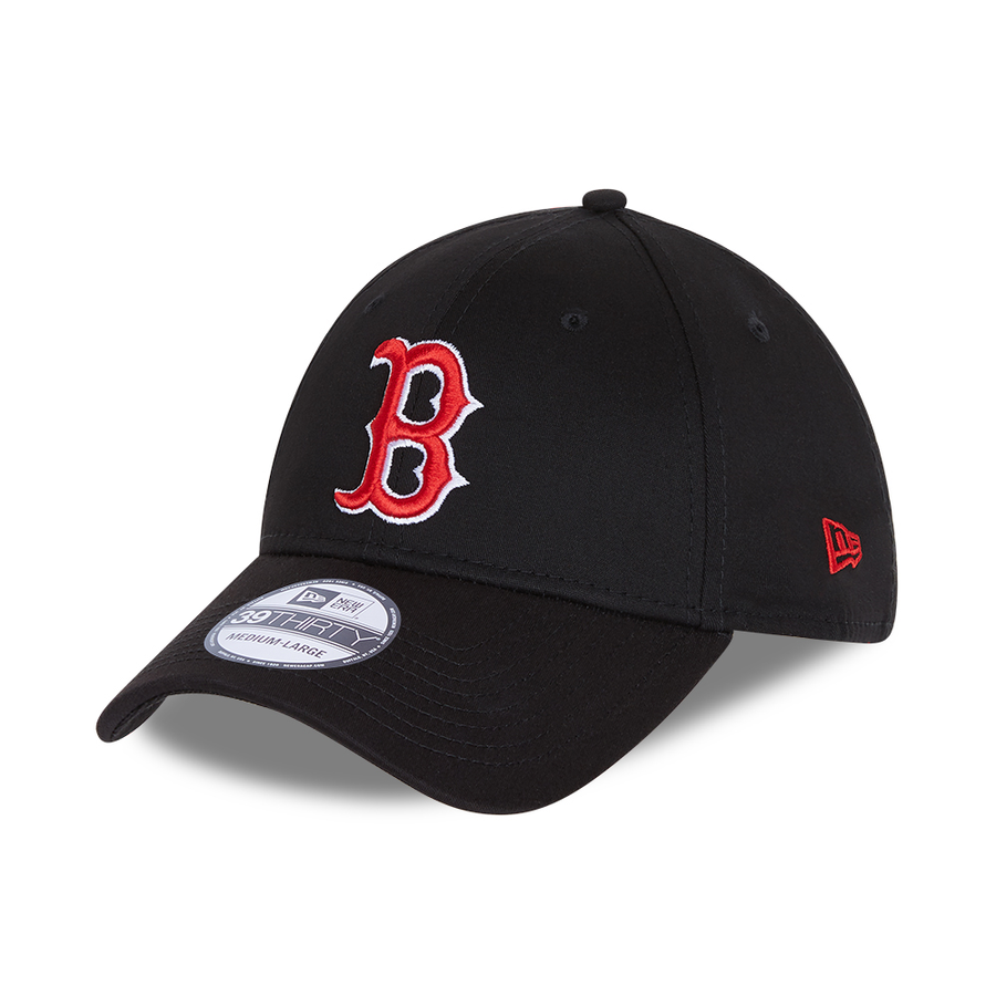 Boston Red Sox 39Thirty League Essential Black/Scarlet Cap