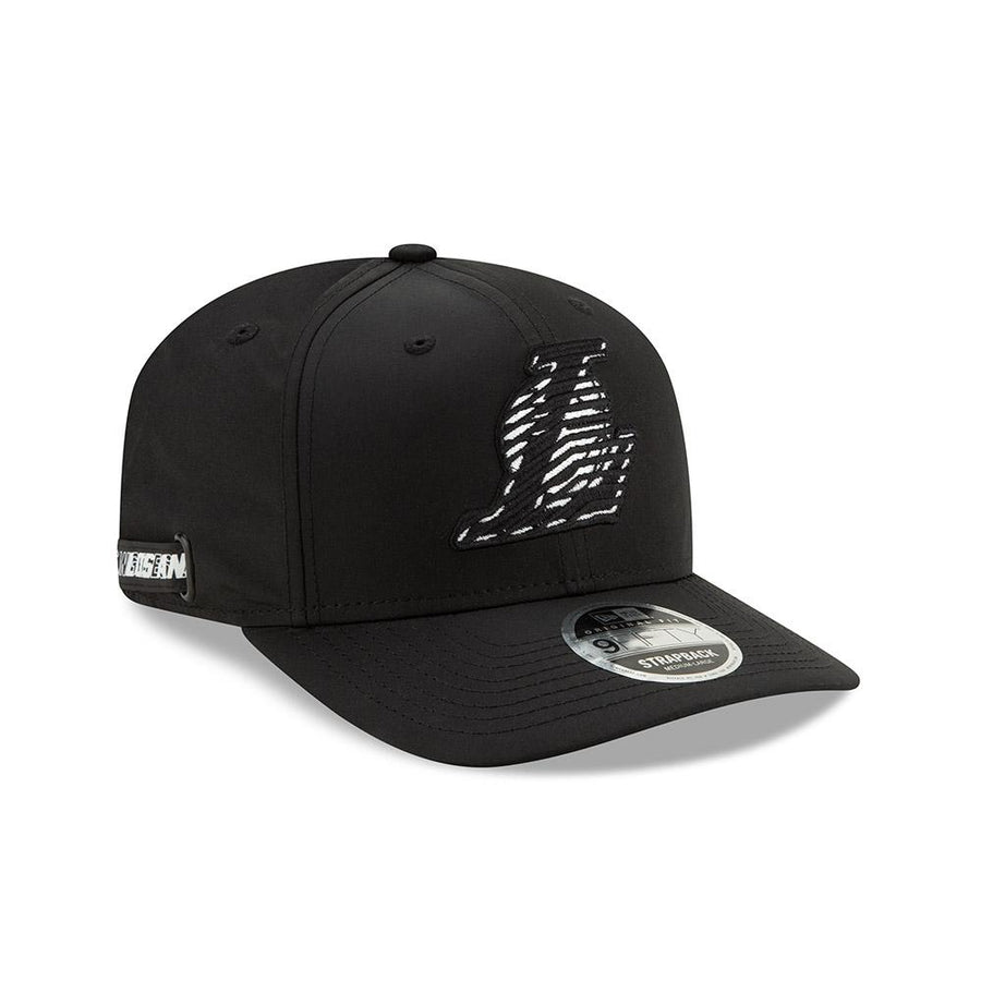 Los Angeles Lakers 9Fifty NBA Monotape Black/White Cap