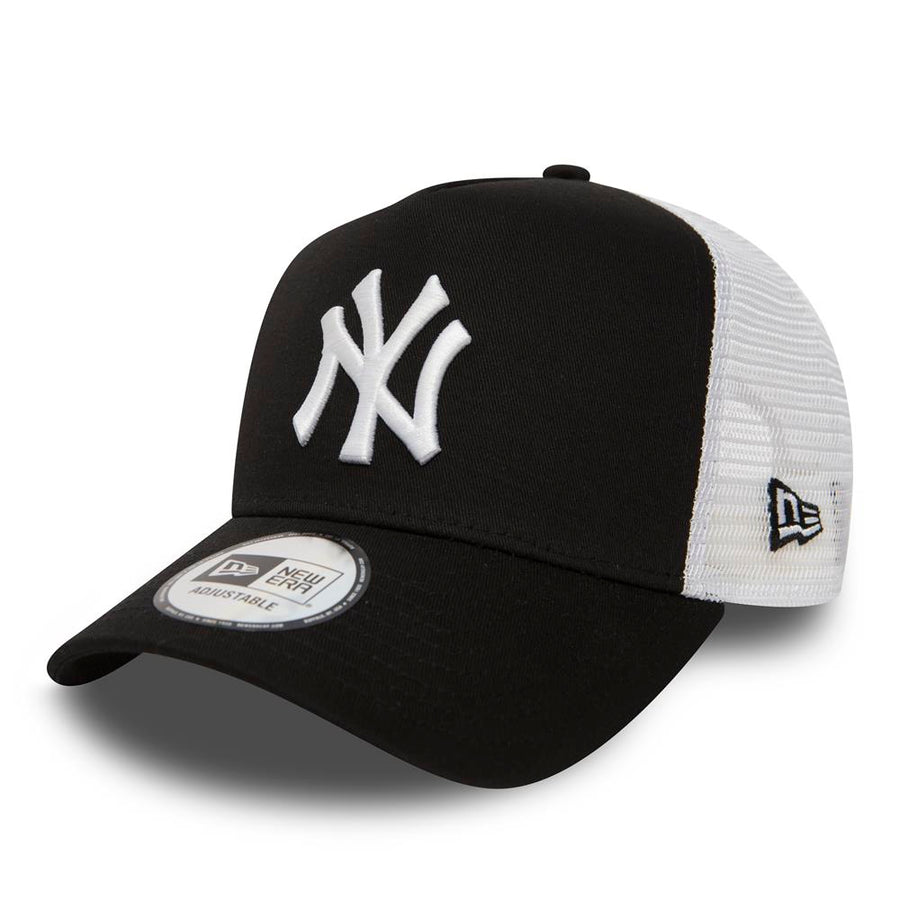 New York Yankees Trucker Clean II Black/White Cap