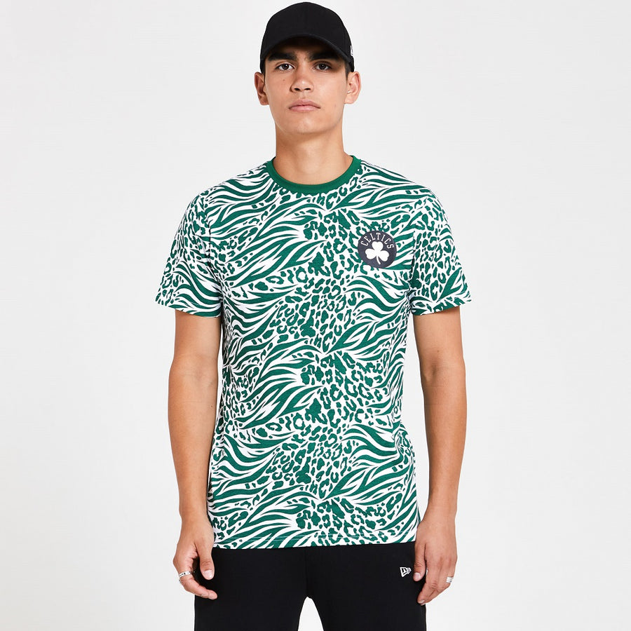 Boston Celtics All Over Print Green Tee