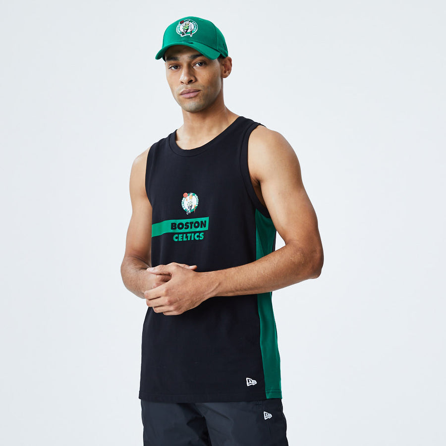 Boston Celtics NBA Block Wordmark Black Tank
