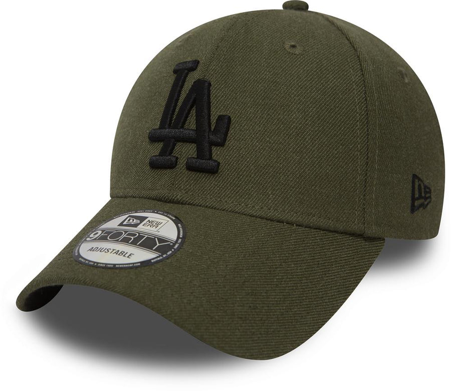 Los Angeles Dodgers 9Forty Heather Essential Olive/Black Cap
