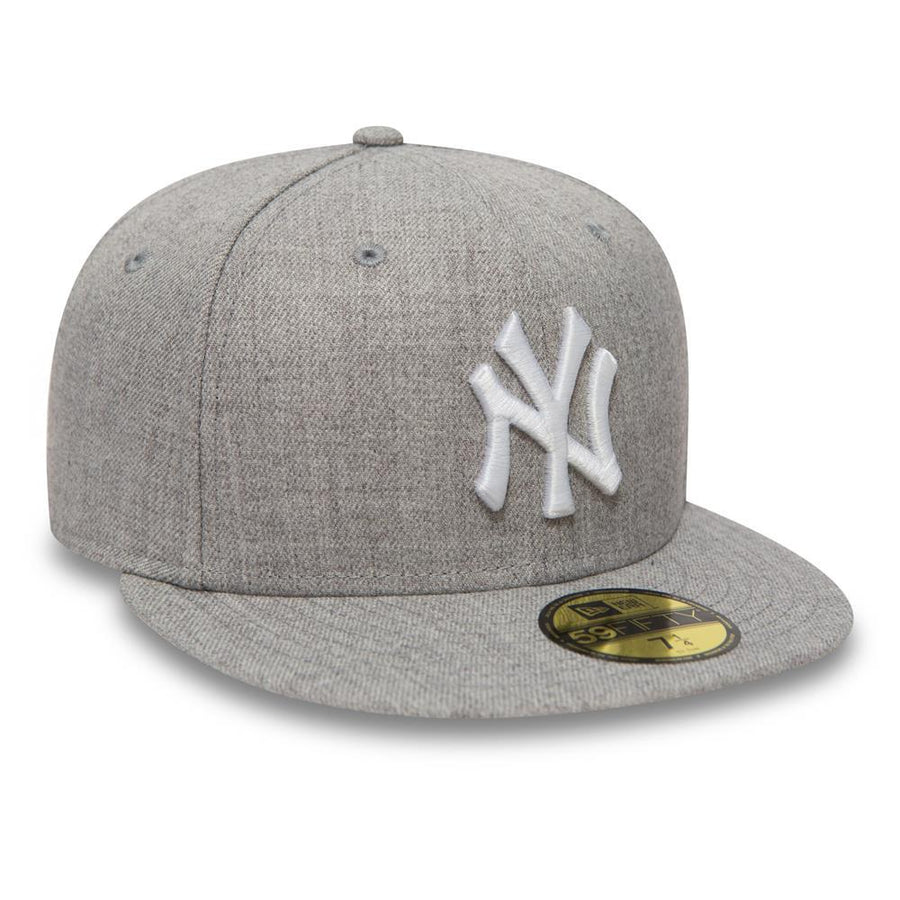 New York Yankees MLB 59Fifty Heather Grey/White Cap