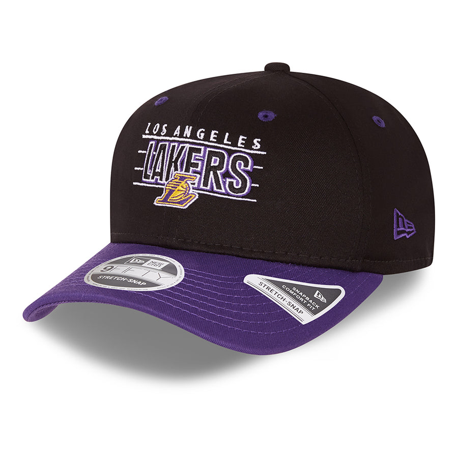 Los Angeles Lakers 9Fifty NBA Team Stretch Snap Black/Purple Cap