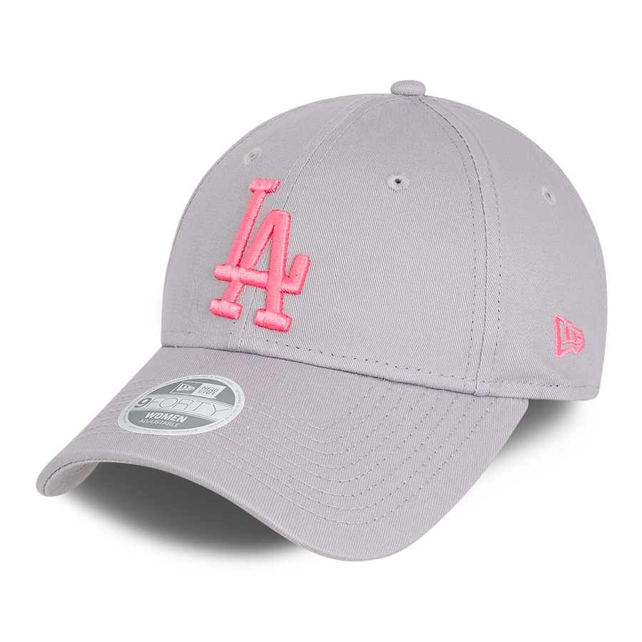Los Angeles Dodgers 9Forty Womens League Essential Grey/Pink Cap
