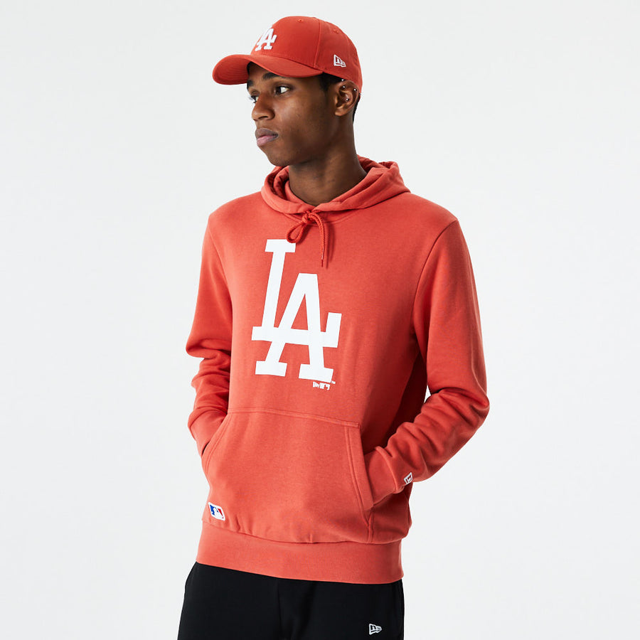 Los Angeles Dodgers MLB Seasonal Team Logo Orange/White Hoody
