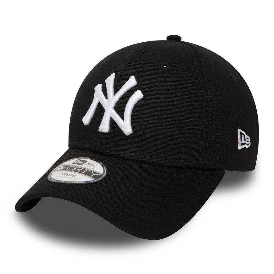 New York Yankees 9Forty MLB League Basic Kids Black/White Cap