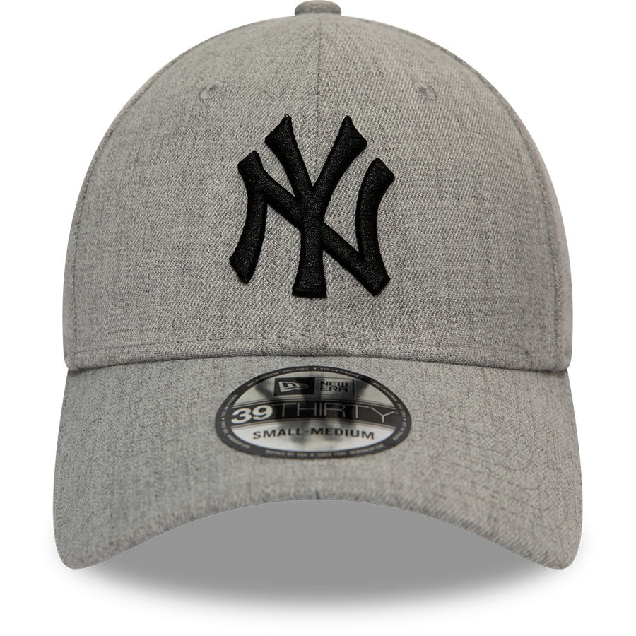 New York Yankees 39Thirty Heather Essential Grey/Black Cap