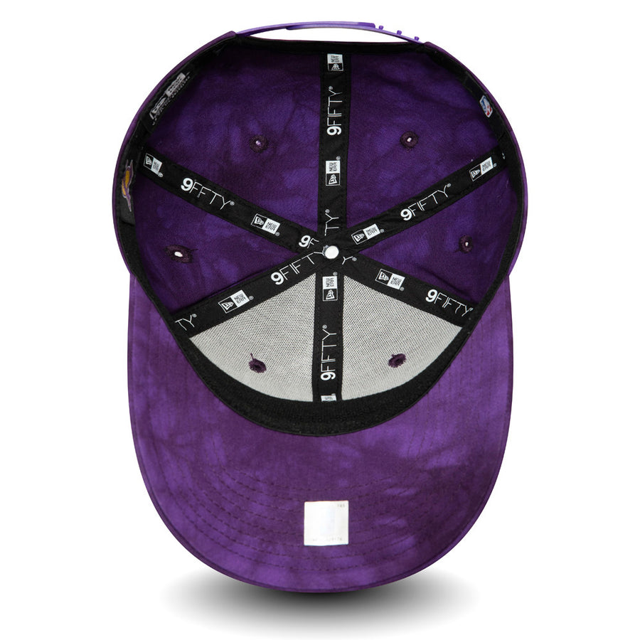 Los Angeles Lakers 9Fifty Team Tie Dye Stretch Snap Purple Cap