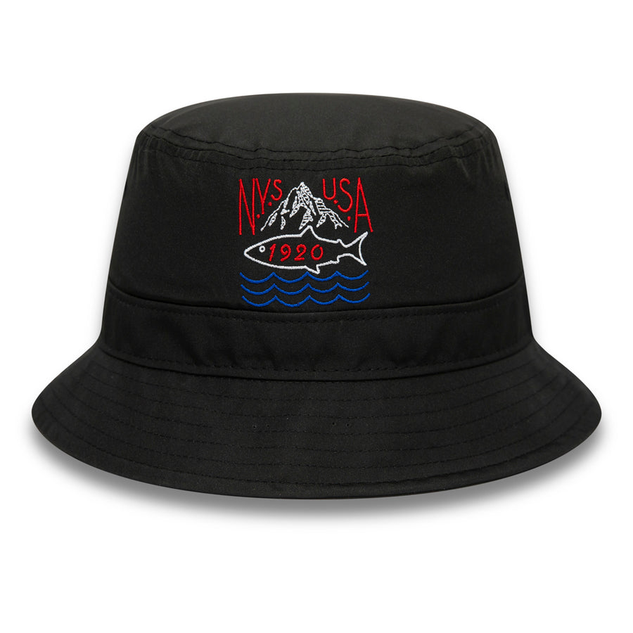 New Era Bucket Outdoors Black Cap