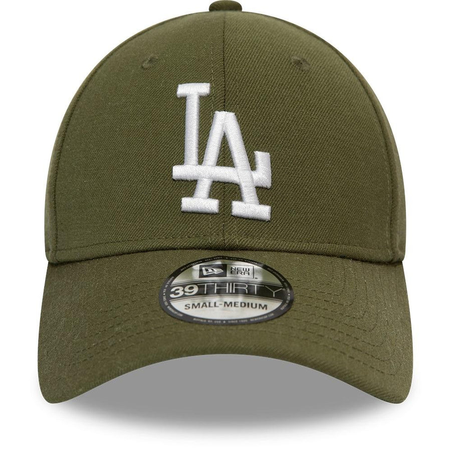 Los Angeles Dodgers 39Thirty Heather Essential Olive/White Cap