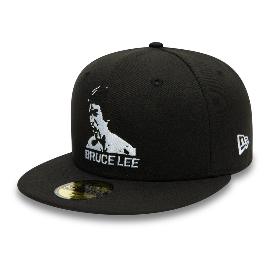 Bruce Lee 59Fifty 80Th Dragon Black/White Cap