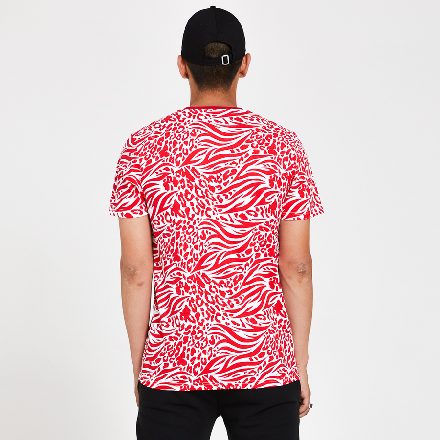 Chicago Bull All Over Print Red Tee