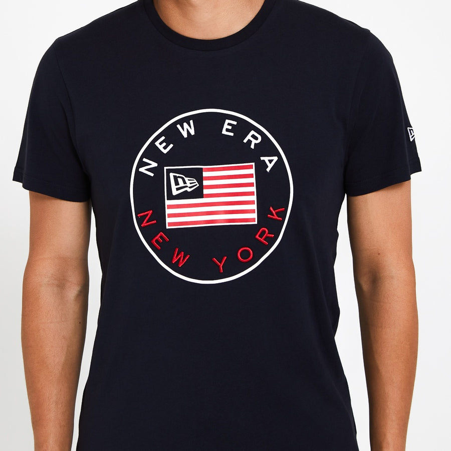 New Era Established Flag Navy Tee
