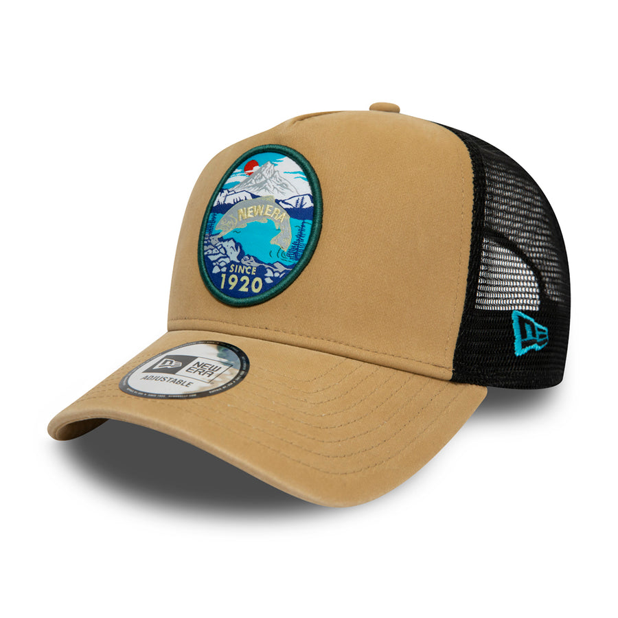New Era Trucker Outdoors Stone Cap