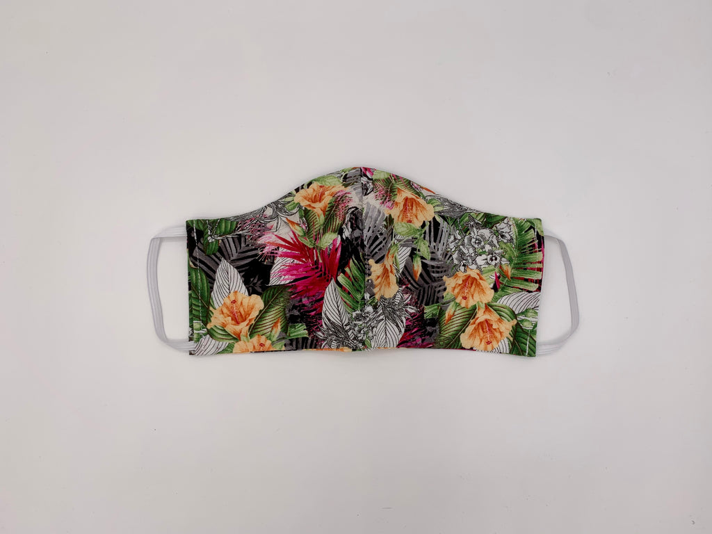 Tropical Floral Mask