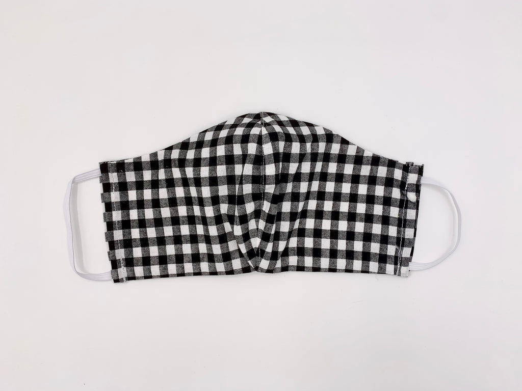 B&W Checkered Mask