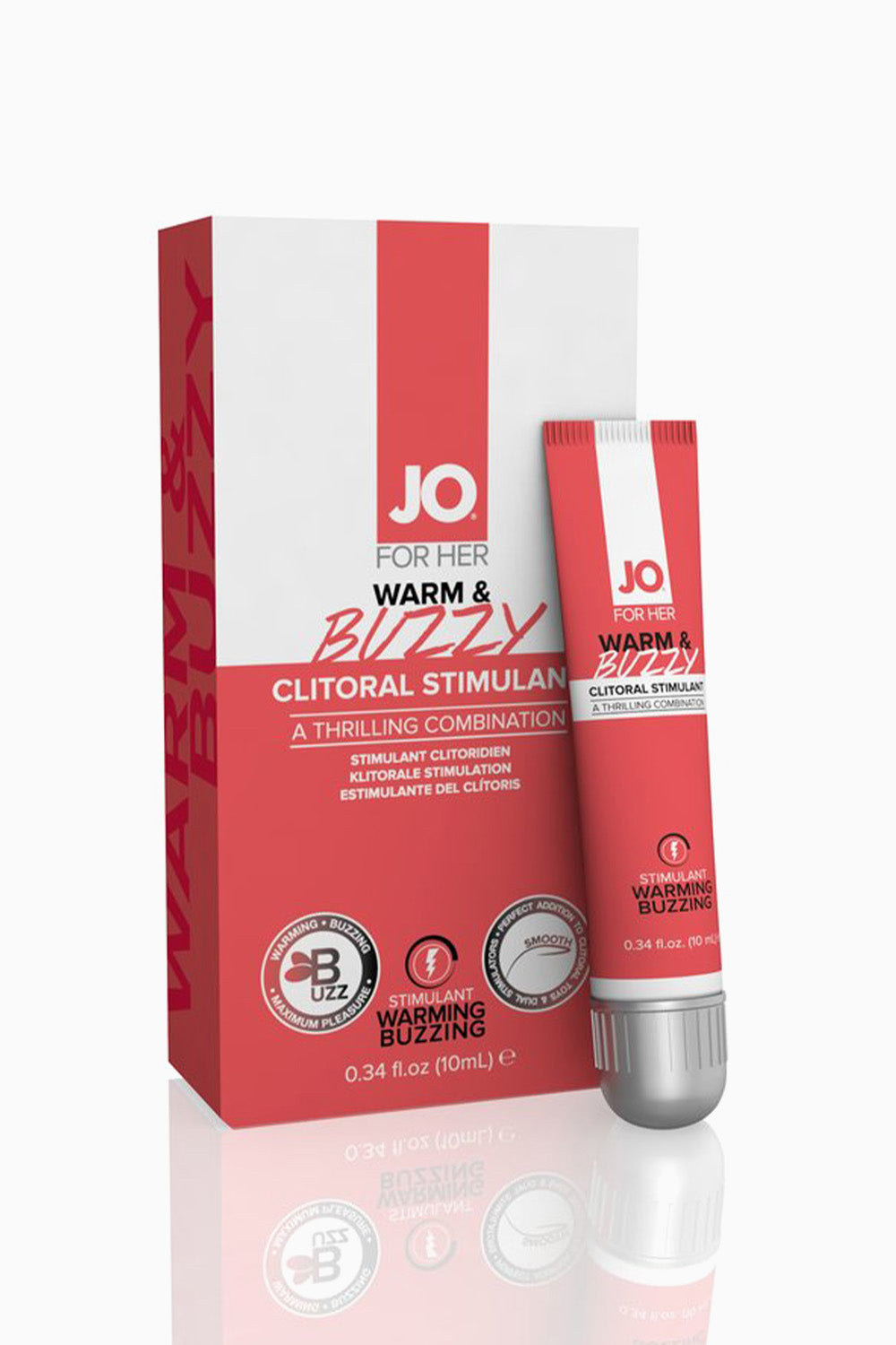 System JO For Her Clitoral Stimulant Warming Warm & Buzzy Original