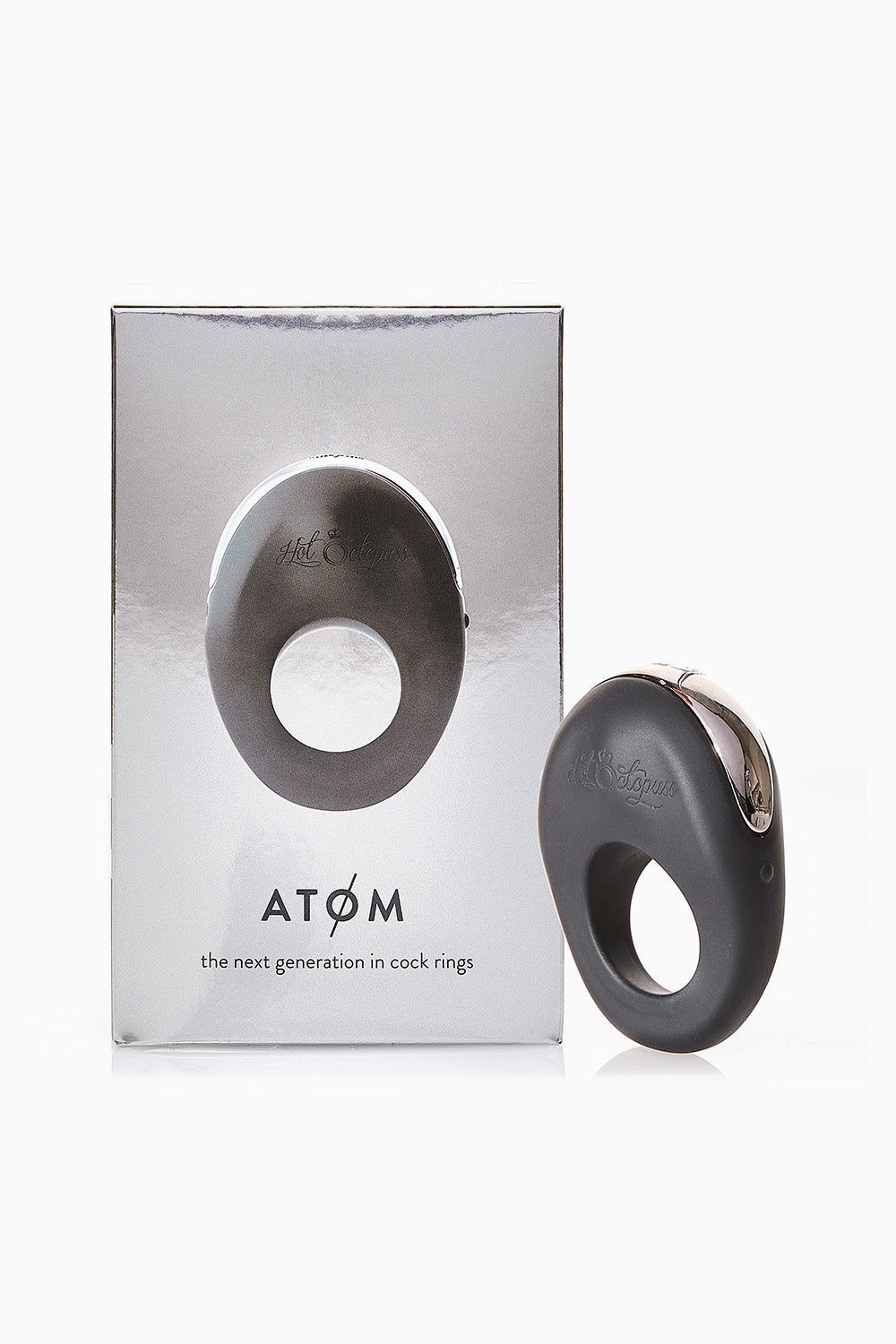 Hot Octopuss Rechargeable Atom Vibrating Cock Ring Black