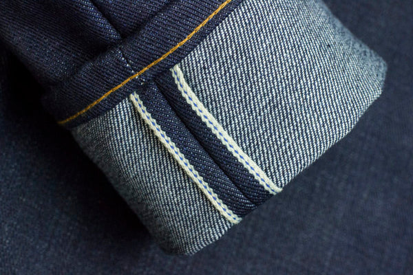 21.5oz Ultra Heavyweight selvedge denim made in the USA