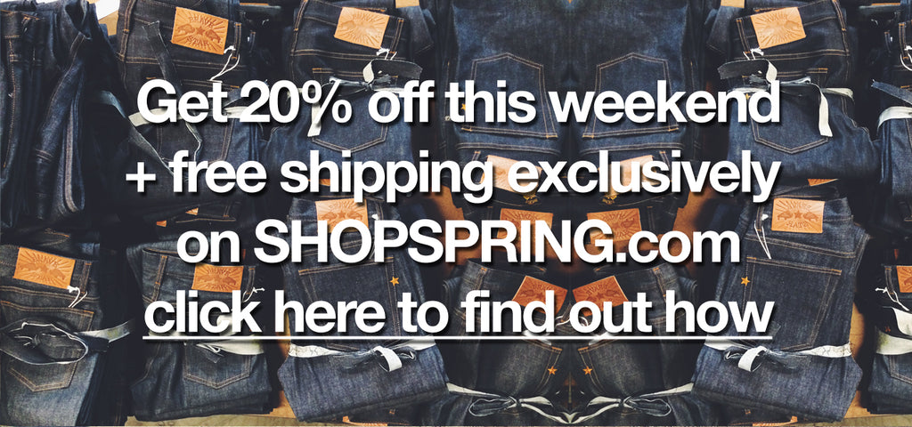 Get 20% off your raw Cone Mills selvage
