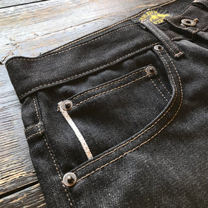 The True Straight 13oz Heritage Black x Natural Cone Mills Selvage