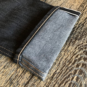 The True Straight 12.5oz Black x Grey Cone Selvage