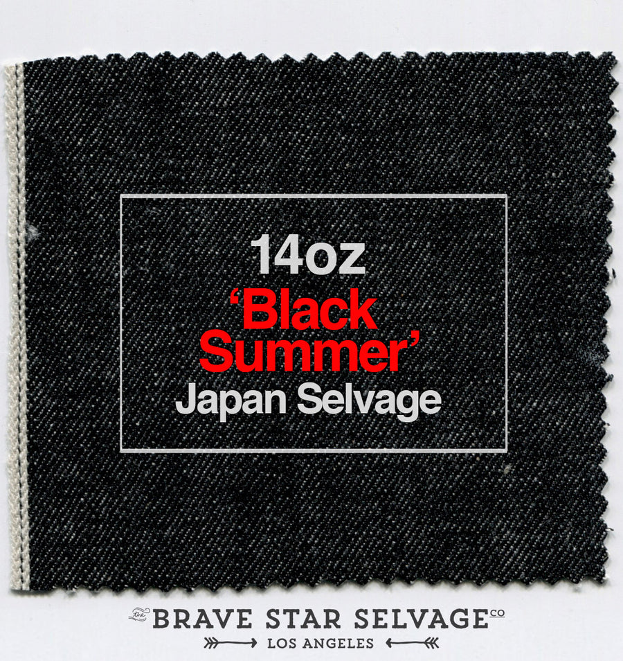 The Slim Straight 14oz 'Black Summer' Japan Selvage
