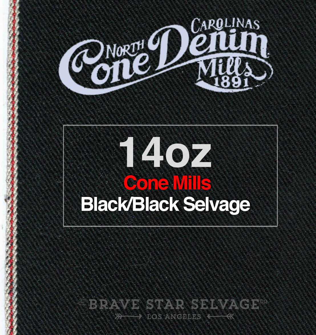 The True Straight 14oz Double Black Cone Mills Selvage