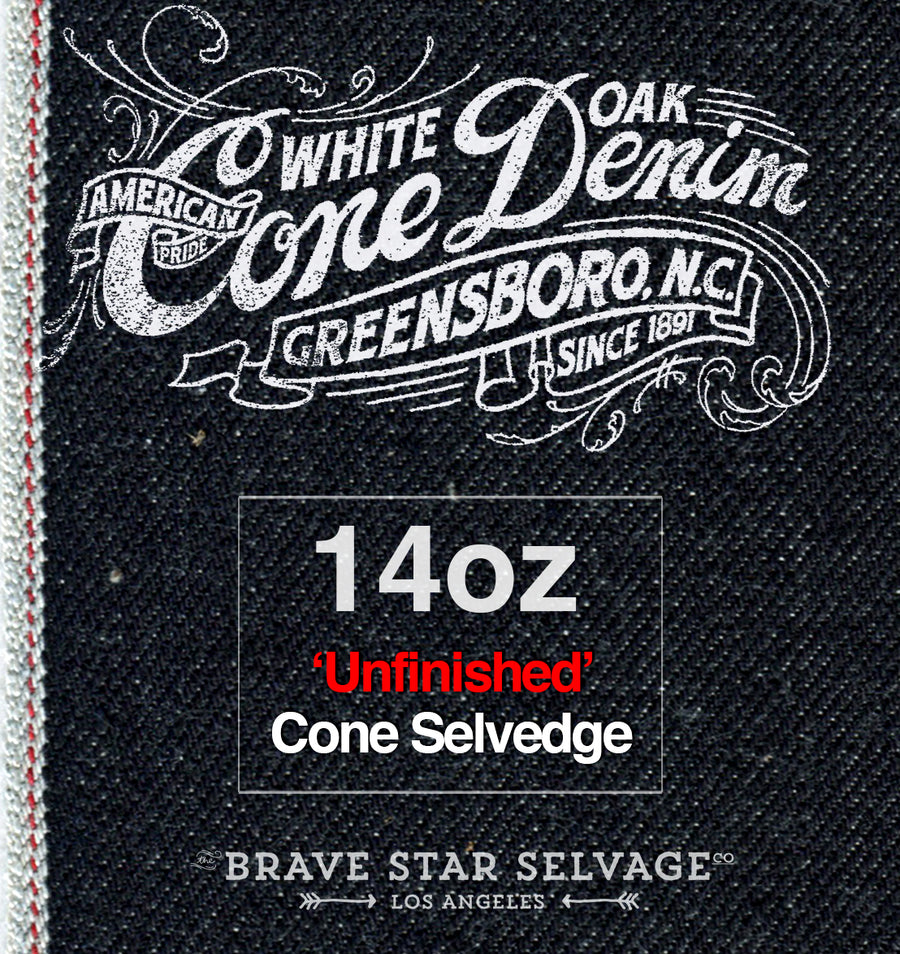 The Slim Straight 14oz 'Unfinished' Cone Mills Selvage