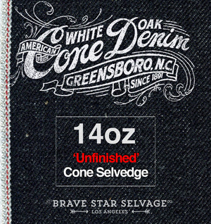The Regular Taper 14oz 'Unfinished' Cone Mills Selvage
