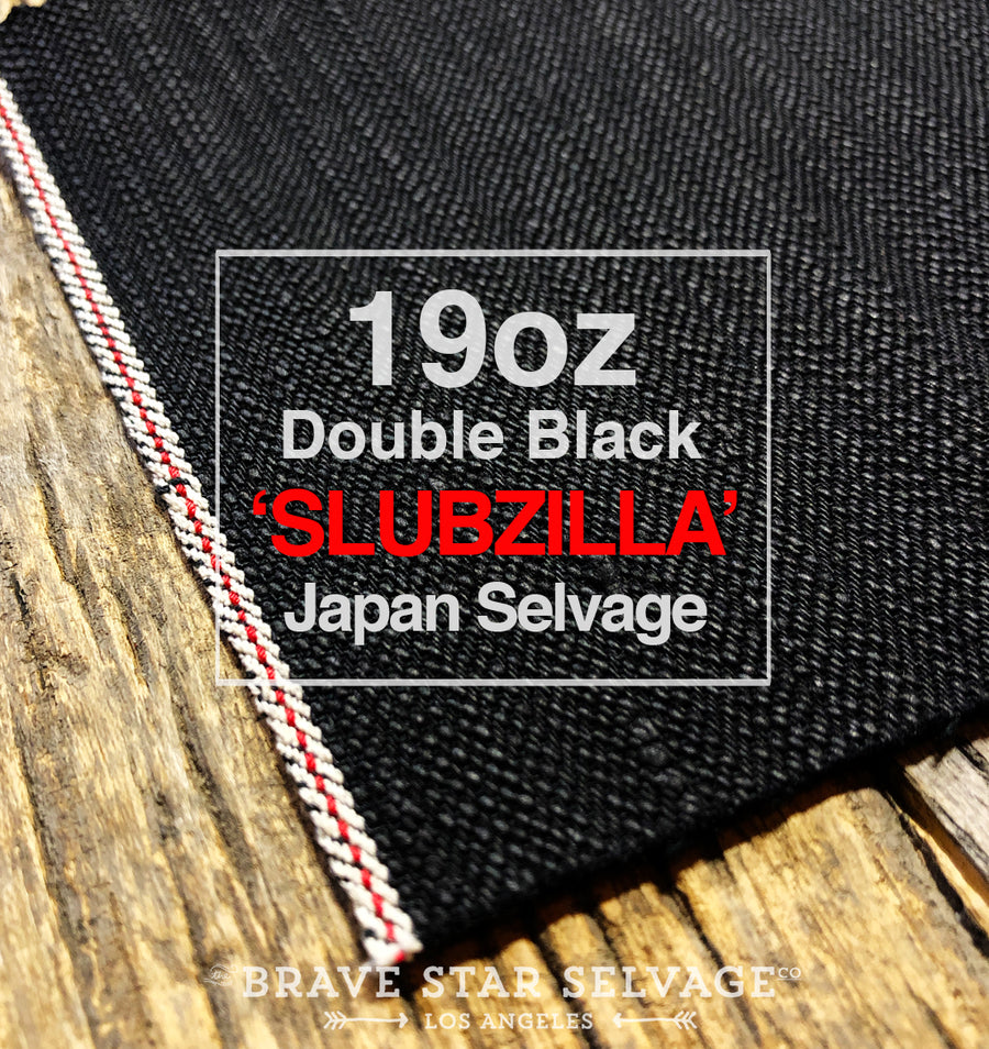 The True Straight 19oz Double Black 'Slubzilla' Japan Selvage Denim