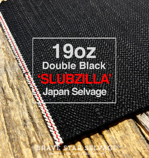The Slim Straight 19oz Double Black 'Slubzilla' Japan Selvage Denim