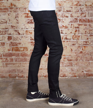 The Skeleton Skinny 12.5oz 'Budokan Black' Stretch Japan Selvage