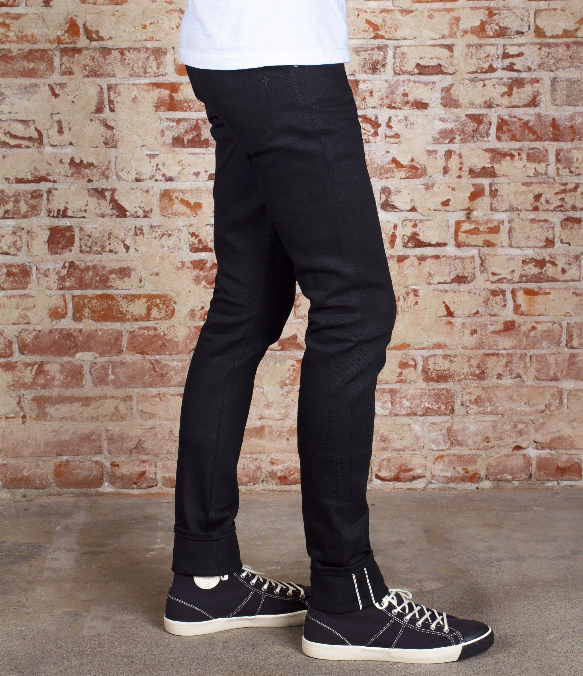 The Skeleton 14oz Double Black Cone Mills Selvage Denim