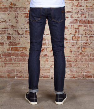 The Skeleton Skinny 14oz 'Homespun Yarn' Cone MIlls Stretch Selvage Denim