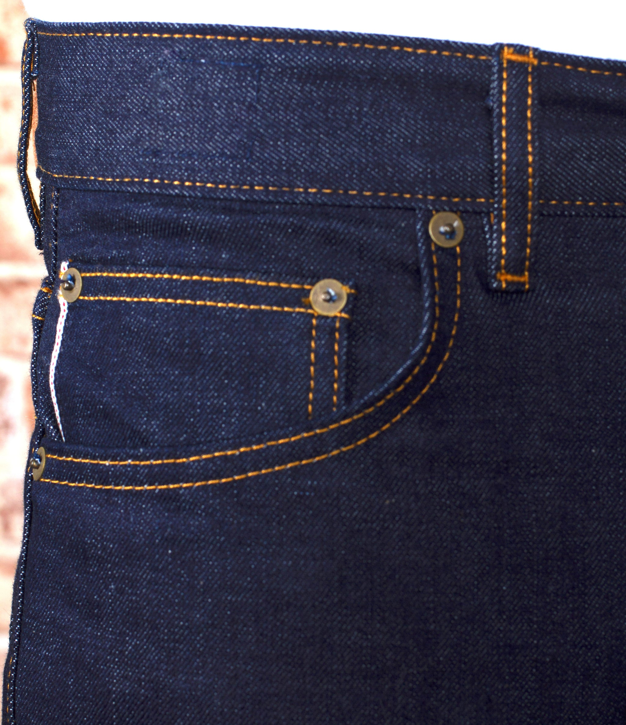 The Slim Straight 15oz Cone Mills Selvage