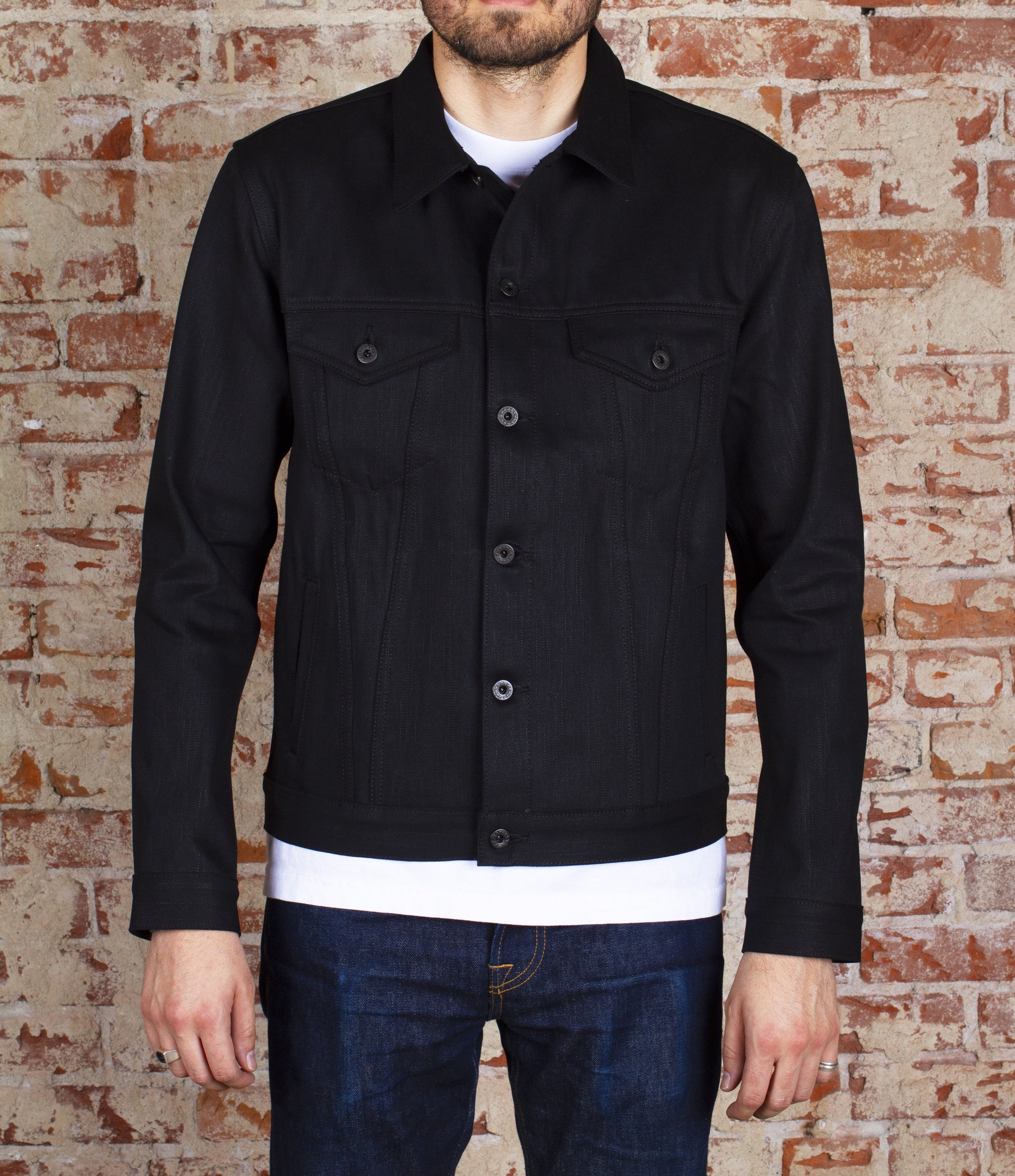 The Ironside 21.5oz Heavyweight Double Black Selvage Denim Jacket