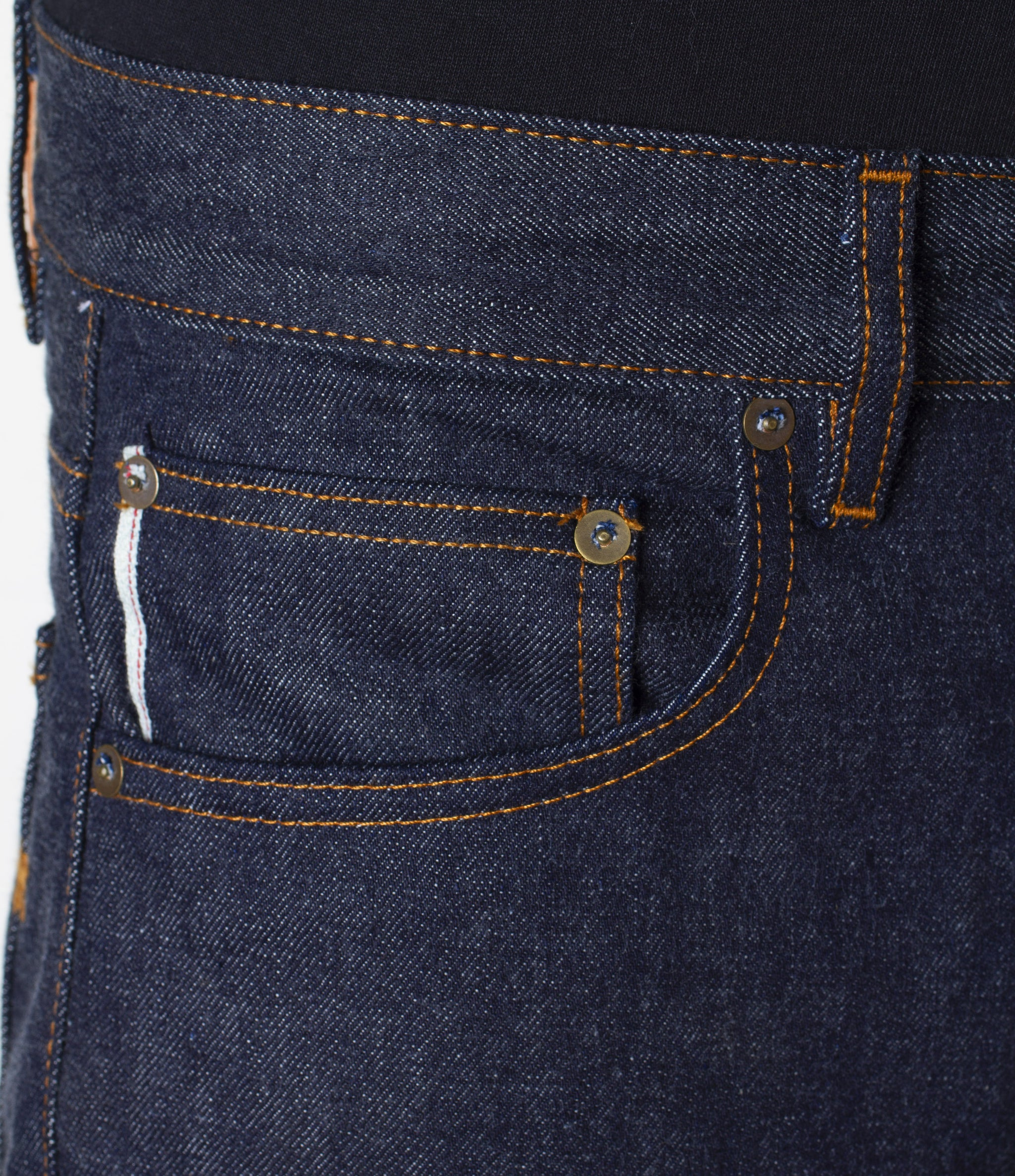 The Slim Straight 13.75oz 'Multi Yarn' Cone Mills Selvage