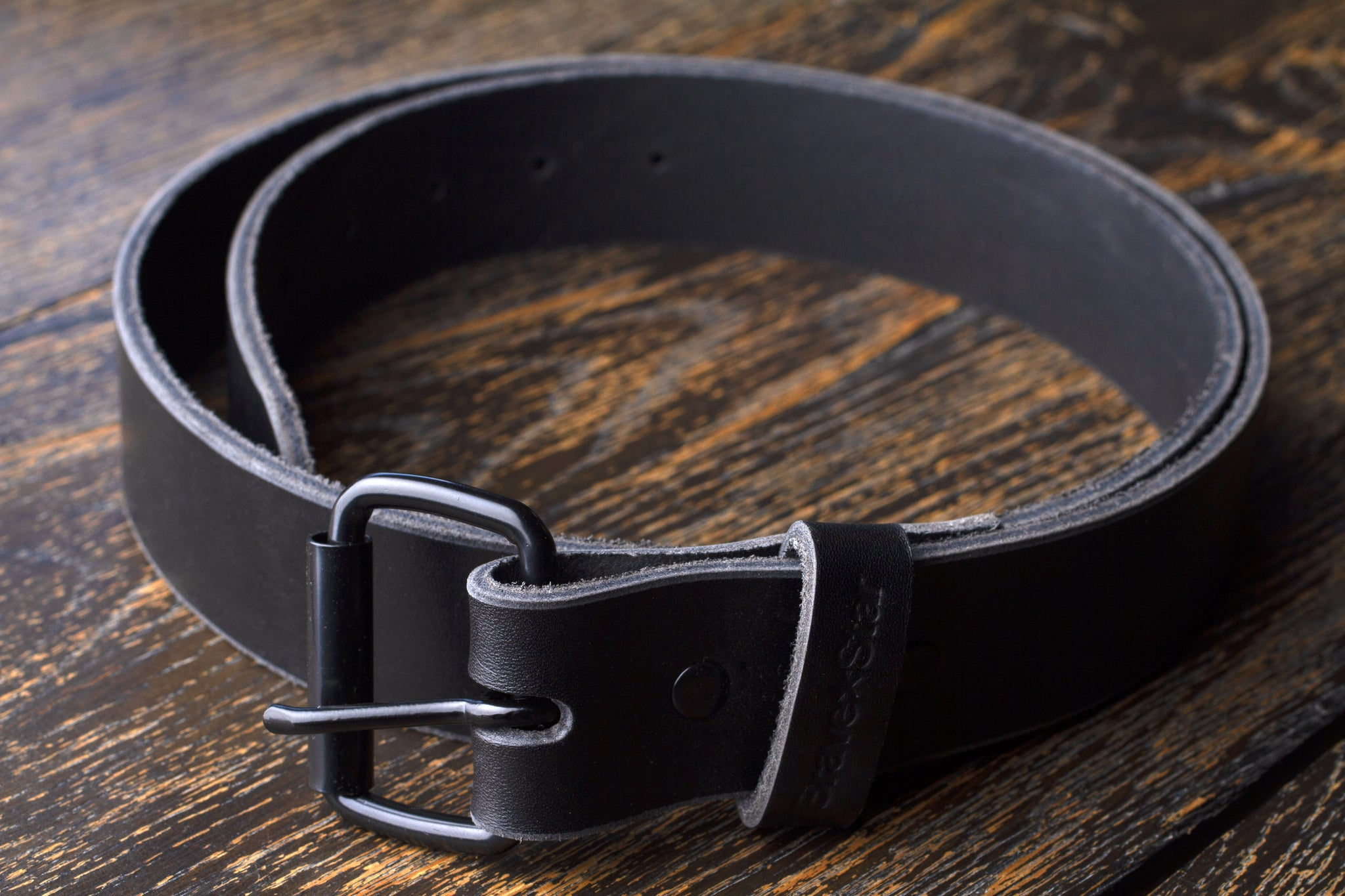The Black Leather Belt