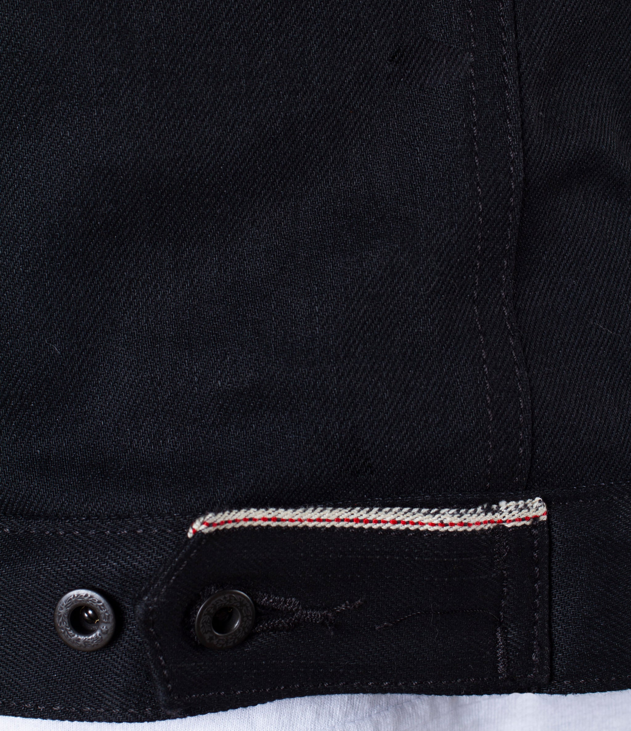 The Ironside Sherpa Fleece 13oz 'Johnny Cash Black' Cone Mills Selvage Denim Jacket