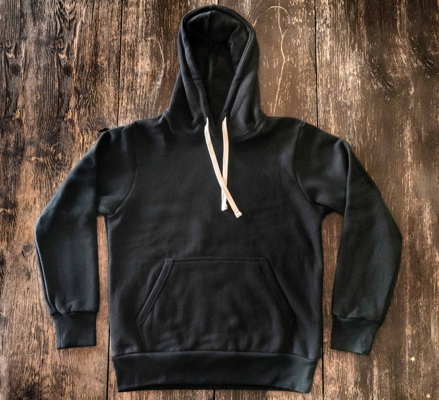 Glory Days 20oz Ultra Heavyweight Black Fleece Pullover Hoodie