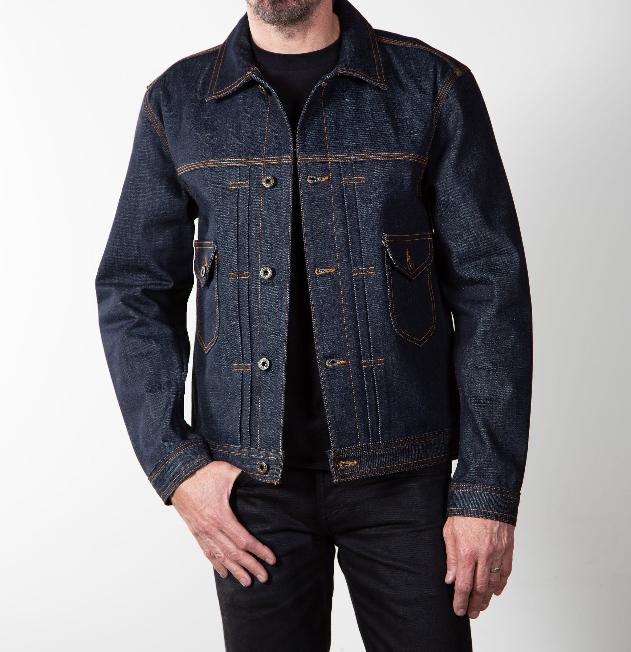 Selvage Denim Jean Jacket Cone Mills - Brave Star Selvage